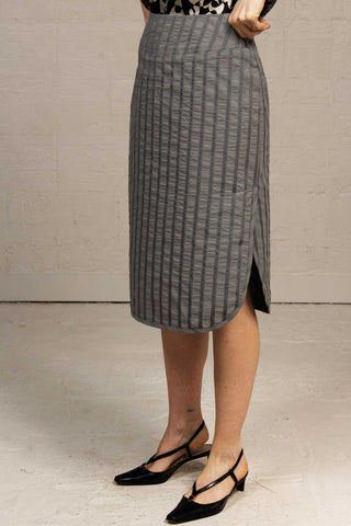 Ribbon Cotton Monteray Skirt - cargo