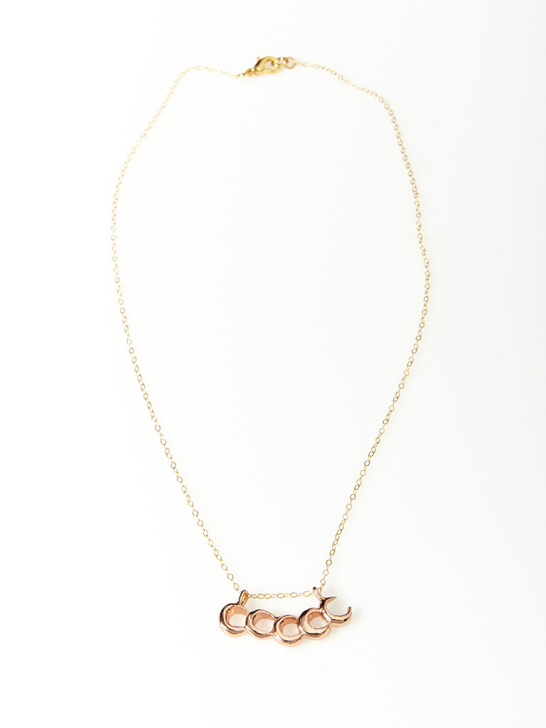 Moonwalker Necklace- Rose Gold