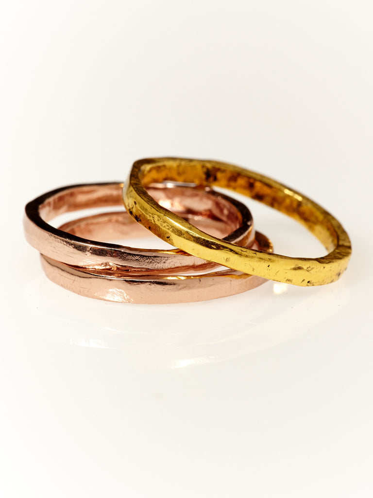 Solstice Stacker Ring- Rose Gold