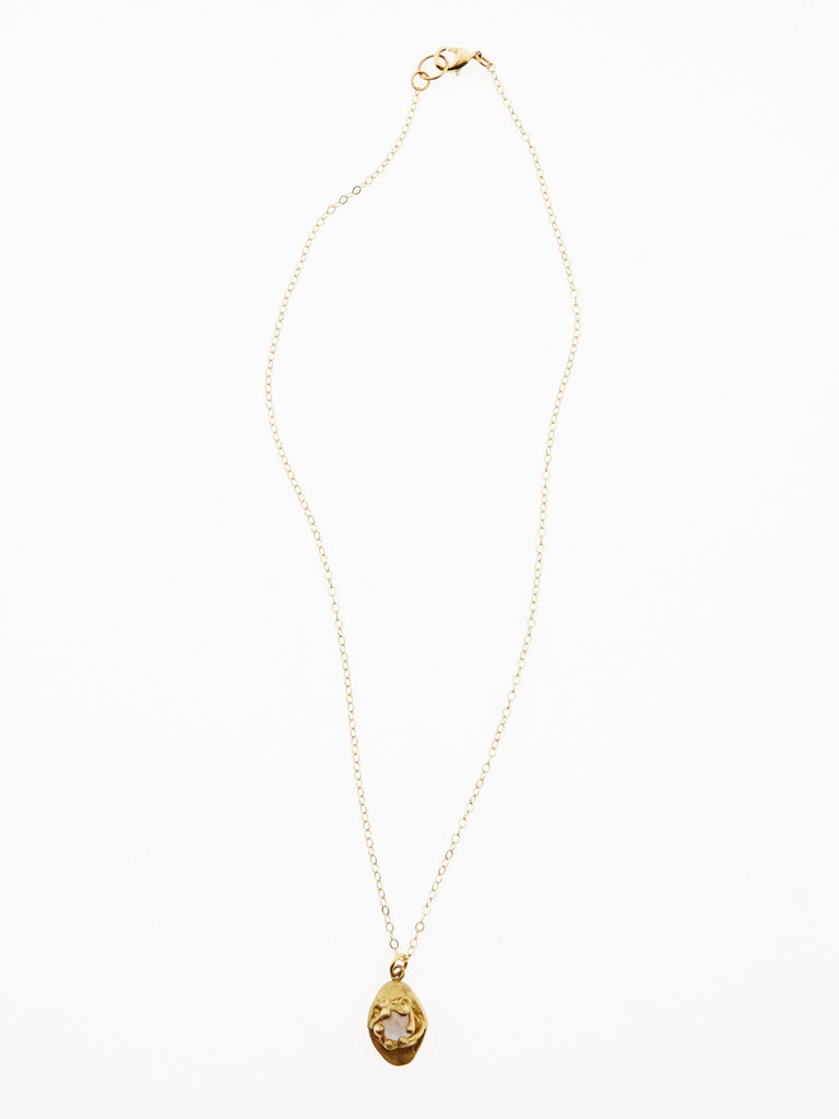 Edie Necklace- Brass