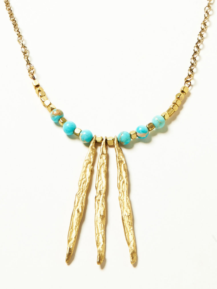 Trinidad Necklace- Blue Jasper