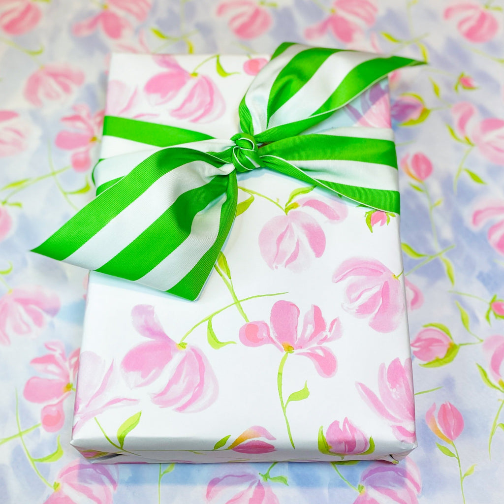 Pink Peony Wrapping Paper | Hand Painted Goods | Alexandra Williams Design
