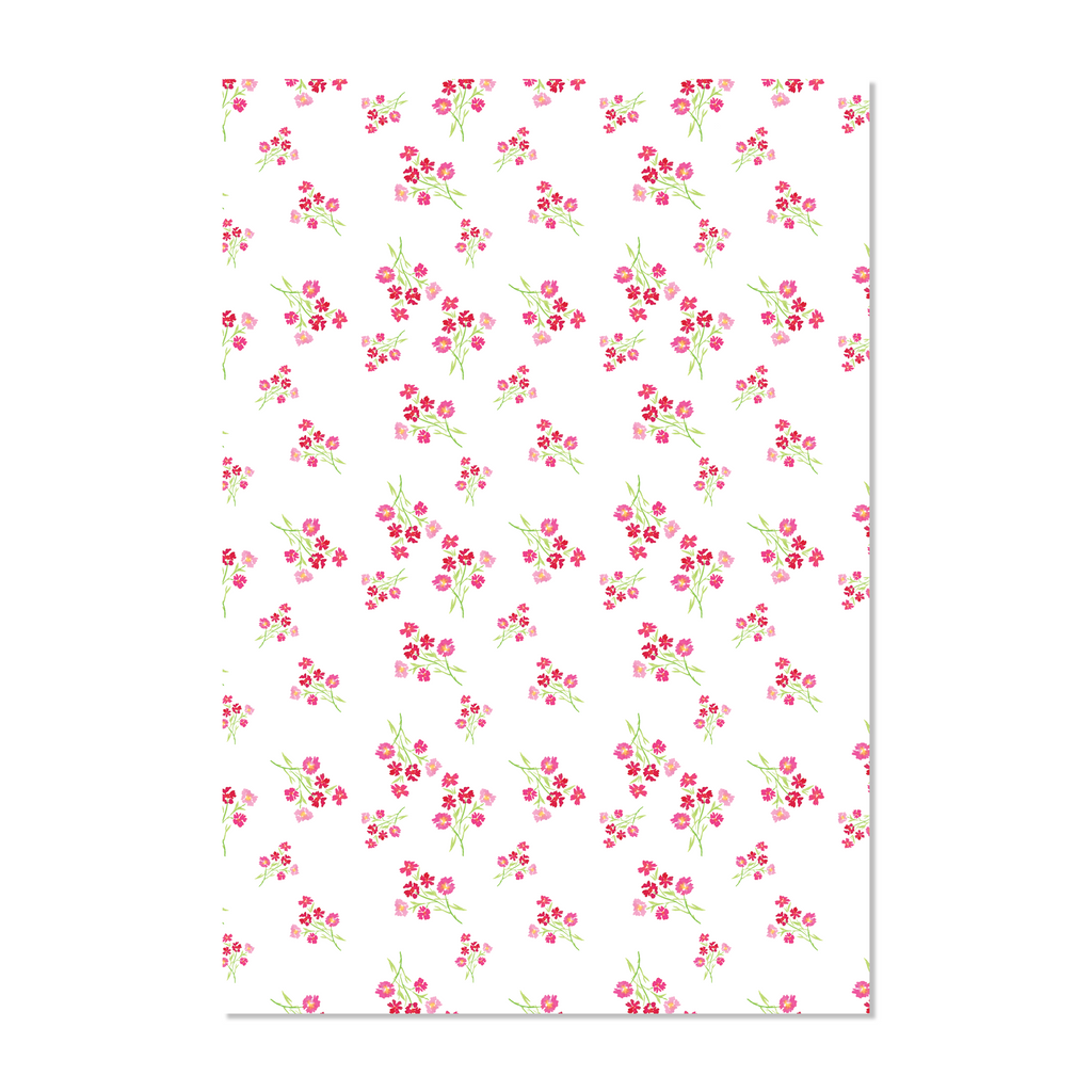 Pink and Red Bouquet Wrapping Paper | Hand Painted Paper Goods | Alexandra Williams