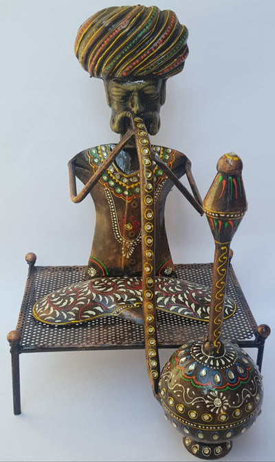 Hookah Man Antique Figurine