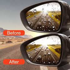 Anti-Rain/Fog Side Mirror Nano Film- Pack of 2