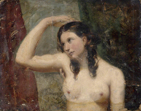 Girl touching her head: Brighton and Hove Museums and Art Galleries