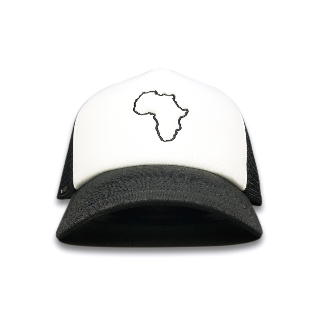 Kiddies Black & White Trucker