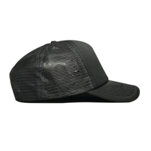 Load image into Gallery viewer, Black/Black Trucker