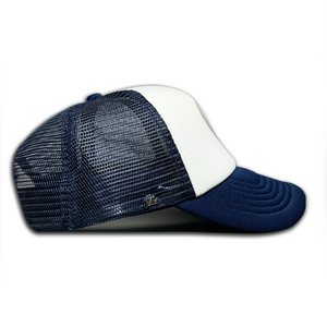 Kiddies Navy & White Trucker