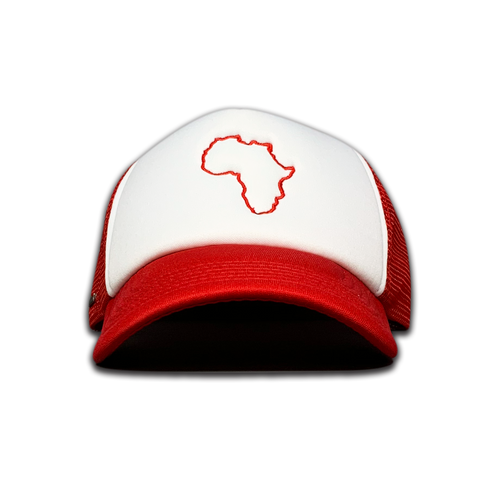 Kiddies Red & White Trucker