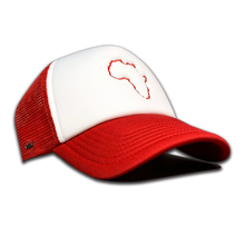 Load image into Gallery viewer, Kiddies Red & White Trucker