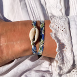 bracelet coquillage liberty ruban