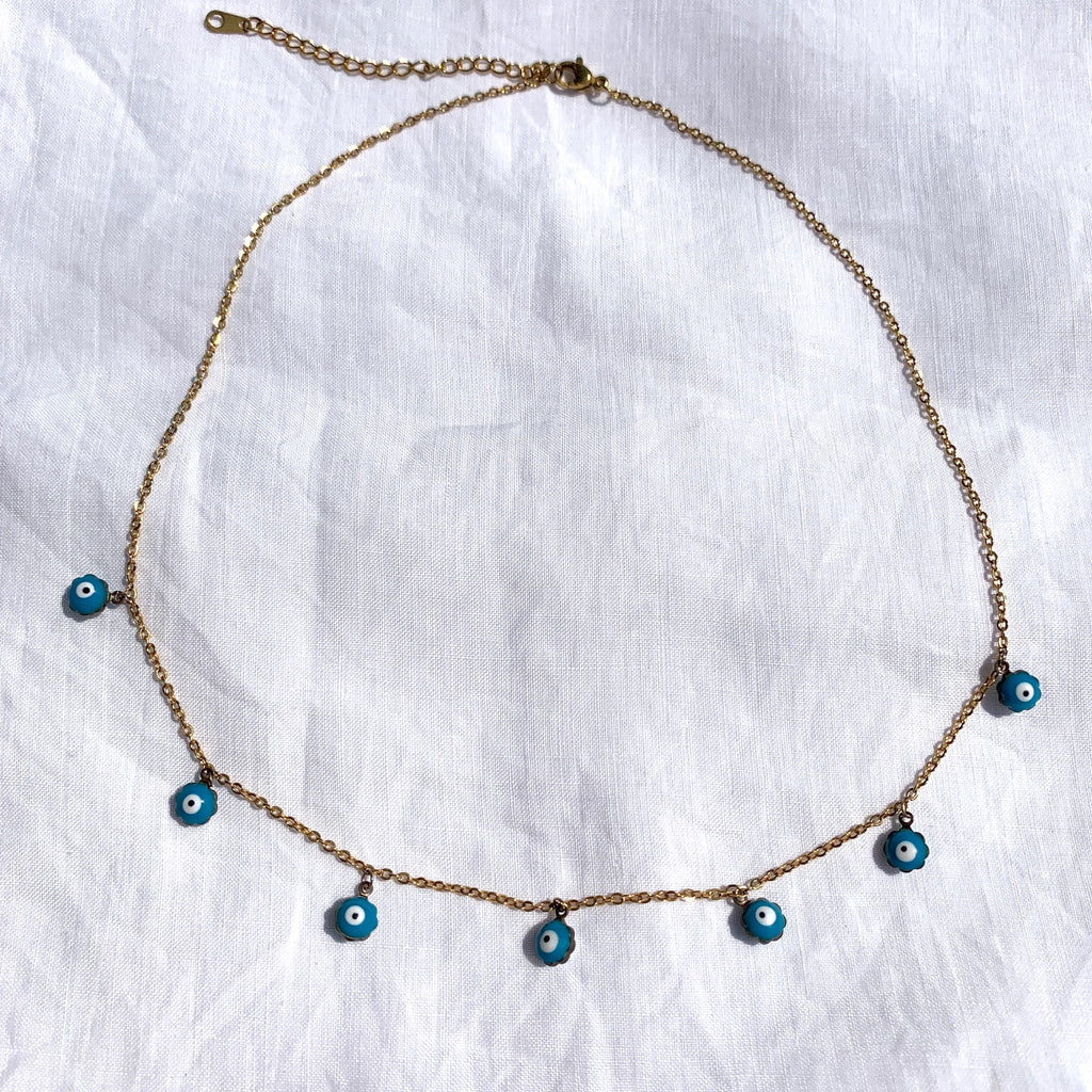 collier oeil grec turquoise