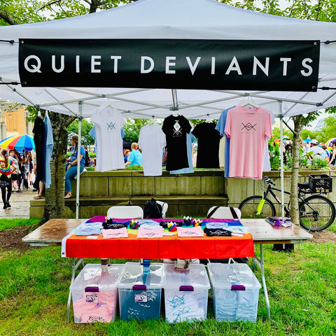 Quiet Deviants display at Cincinnati Pride