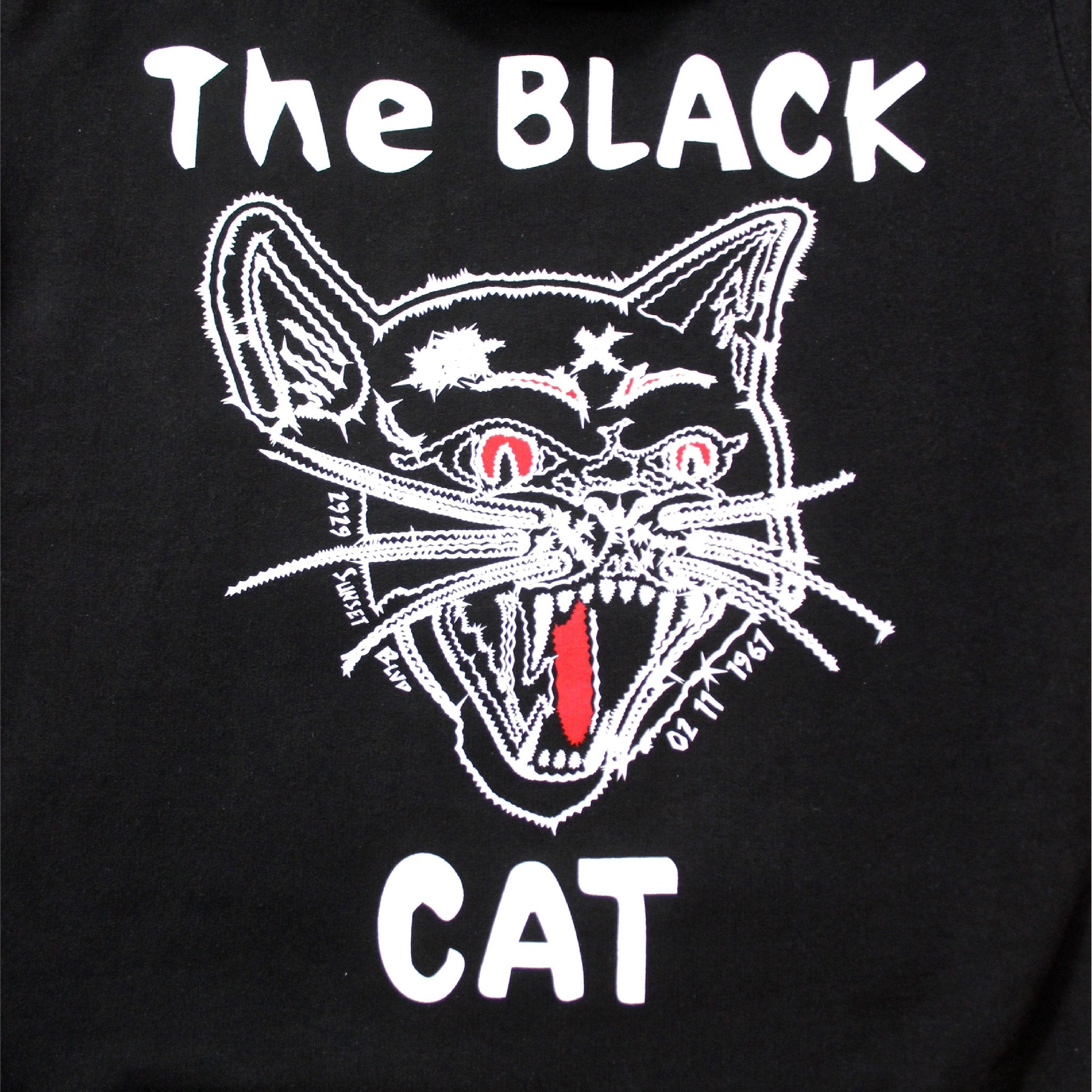 Black Cat Hoodie back close