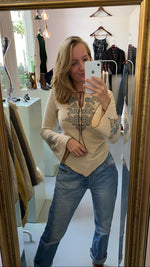 Afbeelding in Gallery-weergave laden, Beige soft western top (XS/S)