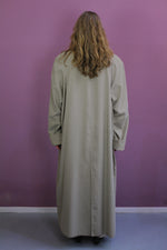 Afbeelding in Gallery-weergave laden, vintage lange trench coat men's model