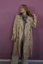 Afbeelding in Gallery-weergave laden, vintage beige trench coat in breda