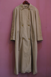 vintage beige trench coat extra lang