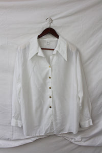 White shirt with gold buttons (XL)