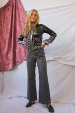 Afbeelding in Gallery-weergave laden, Grey 70's flared pants (XXS/XS)