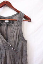 Afbeelding in Gallery-weergave laden, Grey asymmetrical dress (S)