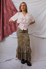 Afbeelding in Gallery-weergave laden, Maxi print skirt with beautiful ruffles  (XS/S)