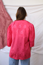 Afbeelding in Gallery-weergave laden, Pink kimono, with subtle print (S-L)