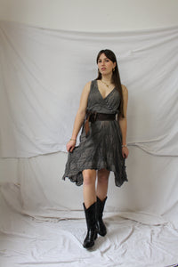 Grey asymmetrical dress (S)