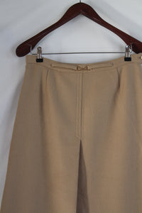 Beige midi skirt with gold detailing (M/L)