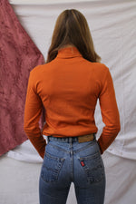 Afbeelding in Gallery-weergave laden, Bright orange turtleneck (S/M)