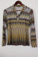 Afbeelding in Gallery-weergave laden, vintage bohemian print blouse / top