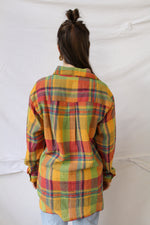 Afbeelding in Gallery-weergave laden, Colorful checker print blouse (L)