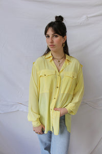 Yellow Parisian blouse with luxe details (L)