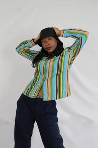 Funky stripes blouse