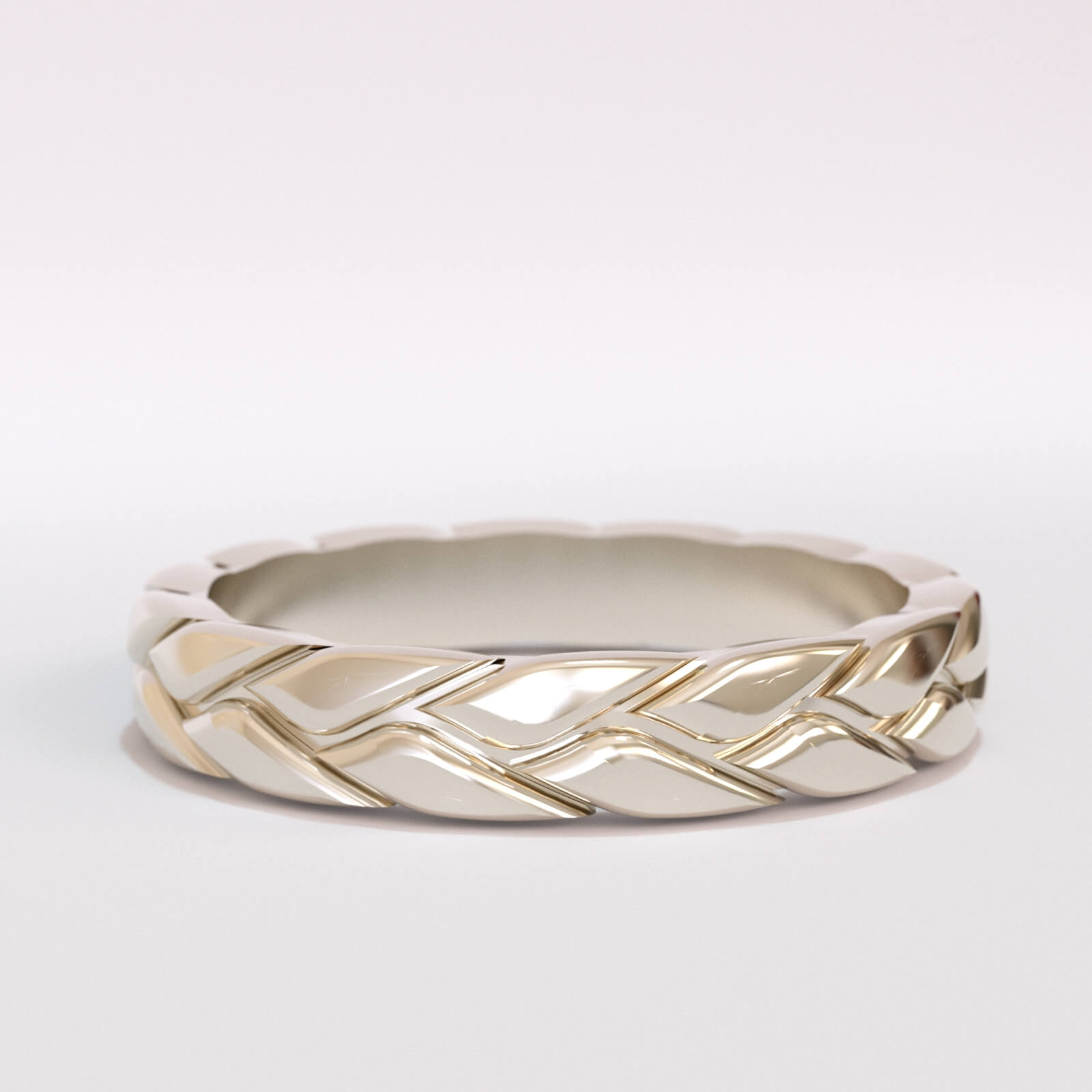 Tyre shape wedding band