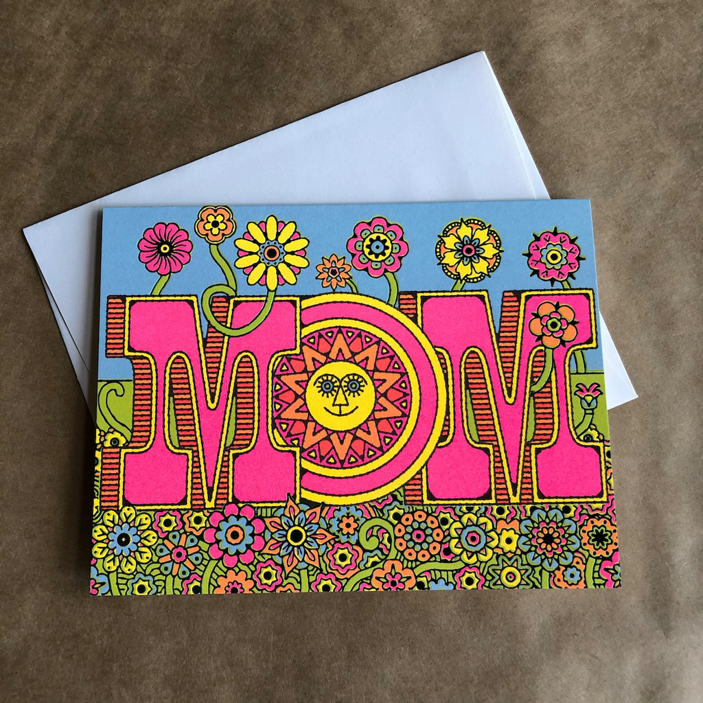 Flower power mother's day card.