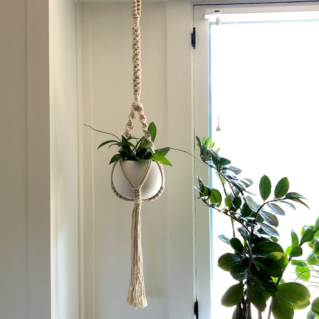 "37"" Long Natural Macrame Hanger"