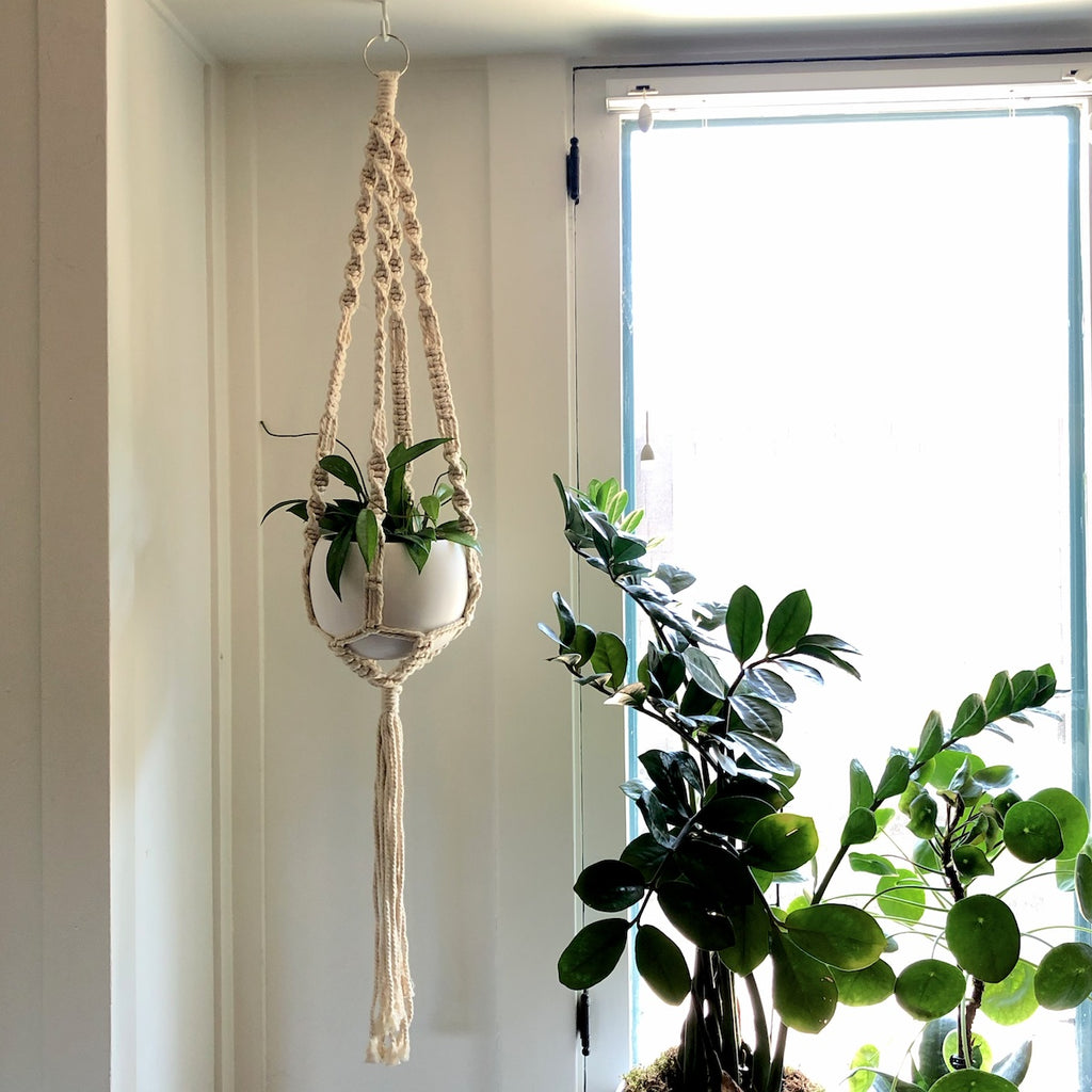 "43"" Soul Long Natural Macrame Hanger"
