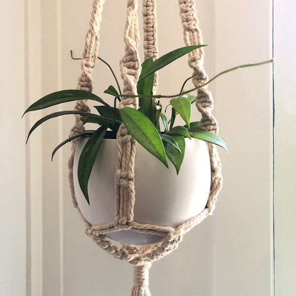 "38"" Soul Long Natural Macrame Hanger"