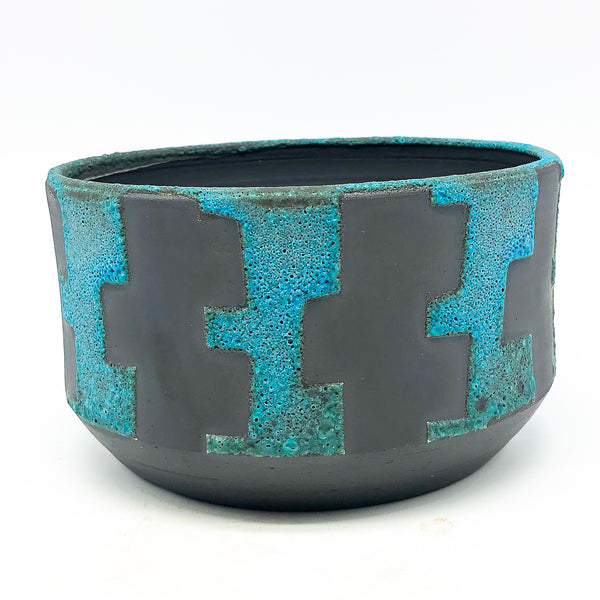 BKB Ceramics - Blue on Black #3