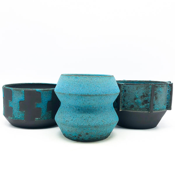 BKB Ceramics - Blue on Black