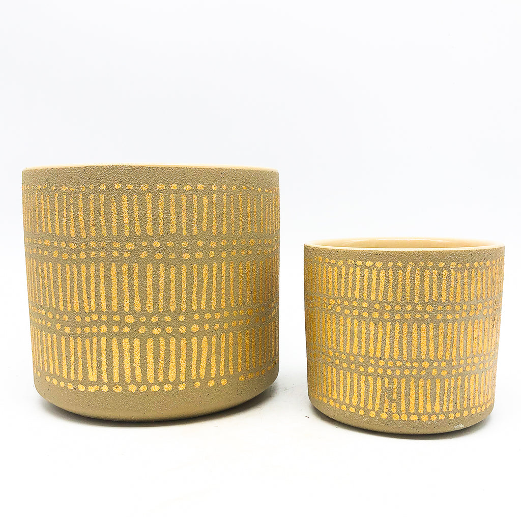 Gold Stamped Pot