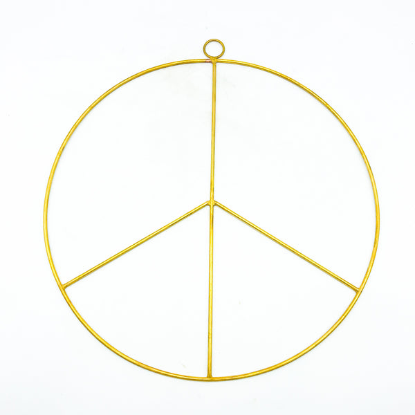 Brass Wreath 'Peace'