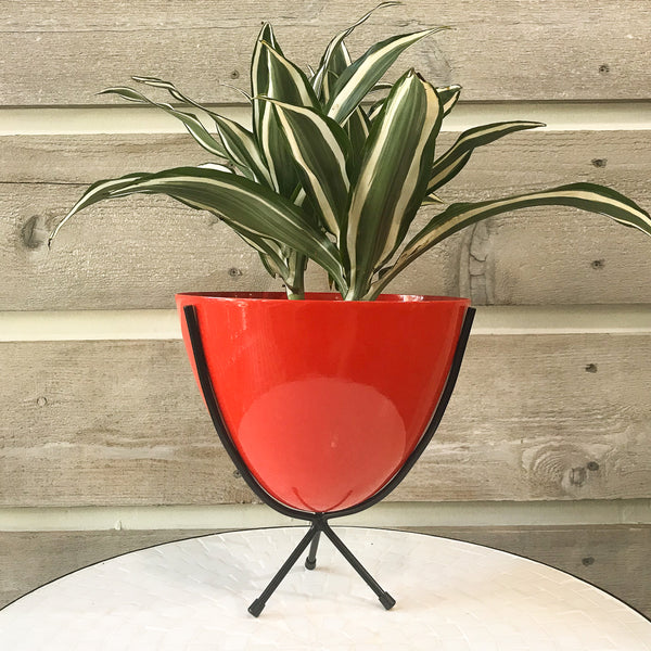 Orange Retro Bullet Planter Mini