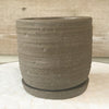 Paul Cement Pot with Saucer