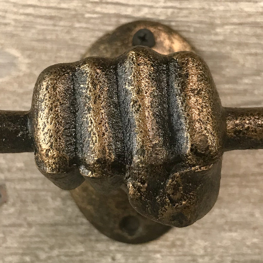 Cast Iron Hand with Horizontal Bar