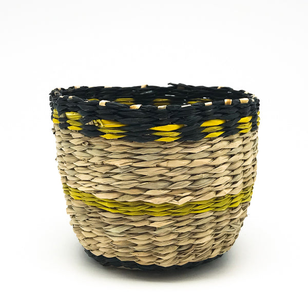 Black & Yellow Seagrass Basket