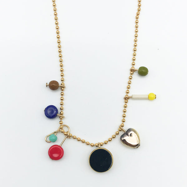I. Ronni Kappos - Gold Fill Chain with Charms