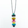 I. Ronni Kappos - Stacked Chicklet Pendant